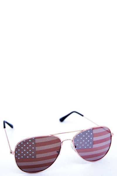 STYLISH US FLAG LENS AVIATOR SUNGLASSES 1 DOZEN