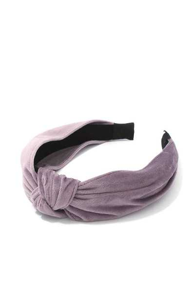SUEDE TOP KNOT HEADBAND