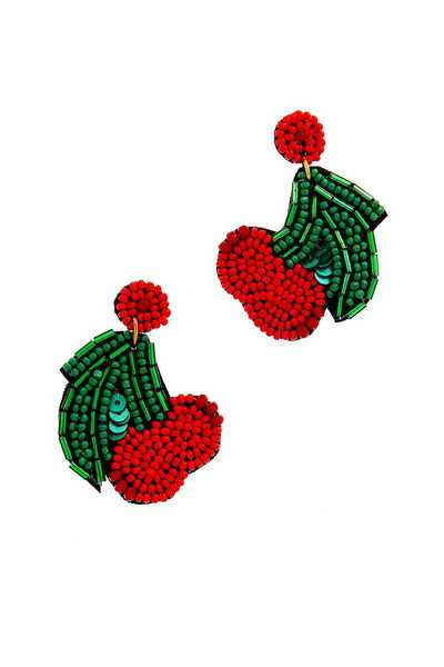 MODEREN BEADED CHERRY EARRING