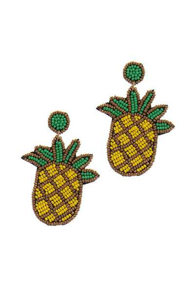 PINEAPPLE POST DROP EARRING
