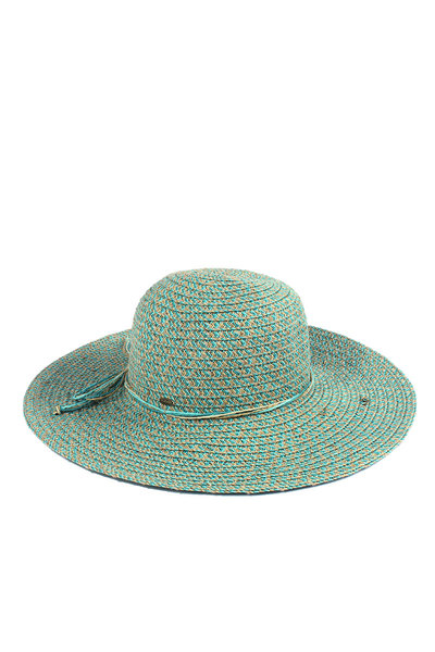 CC BOW MULTI COLOR STRAW BRIM HAT