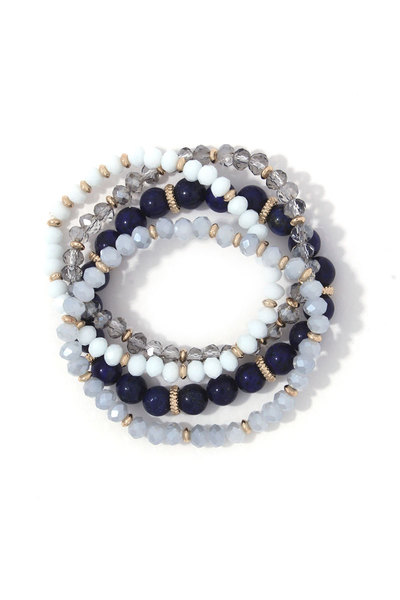 BEADED STRECH BRACELET SET