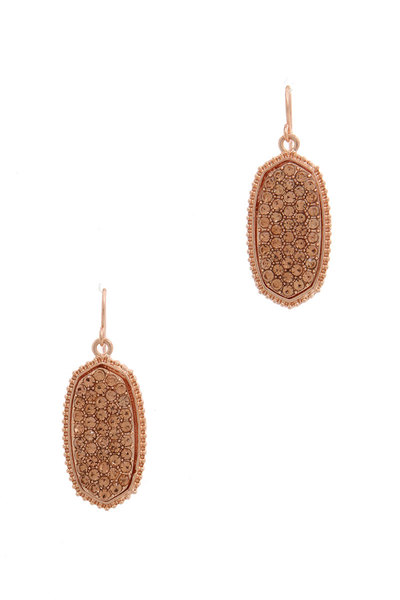 OVAL SHAPE RHINESTONE DROP EARRING