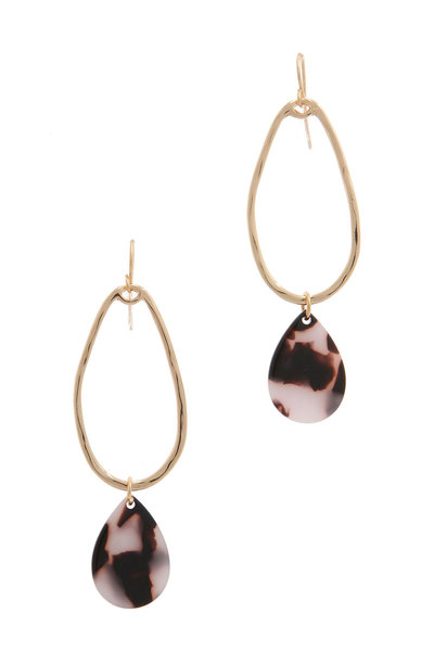 ACETATE TEARDROP OVAL DROP EARRING