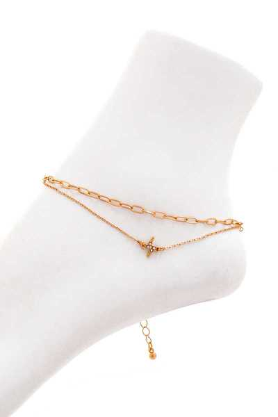 FASHION CHIC DOUBLE LAYER ANKLET