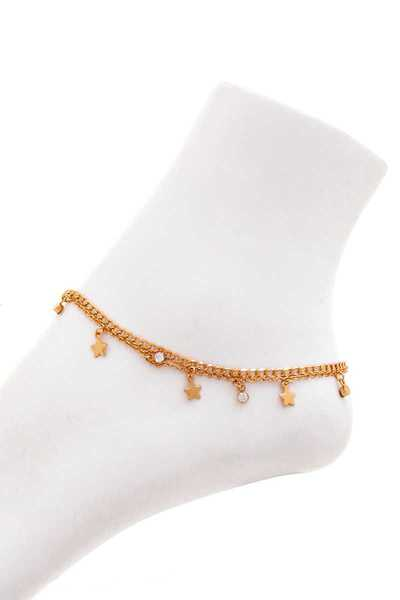 FASHION STAR DANGLE DROP ANKLET