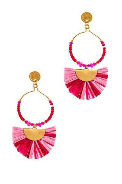 STYLISH FAN TASSEL DROP EARRING
