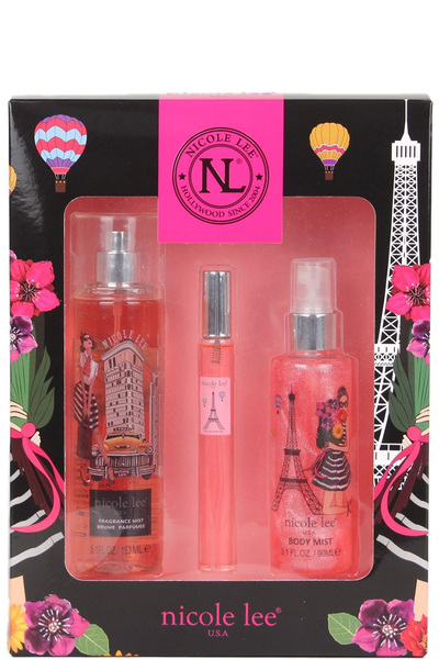 NICOLE LEE FLORAL ESSENCE 3 PIECE SET