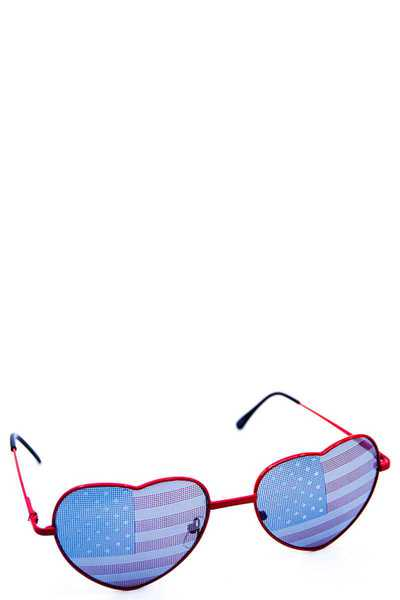 FASHION HEART AMERICAN FLAG SUNGLASSES 1 DOZEN