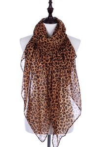 Fashionable Animal Print Oblong Scarf
