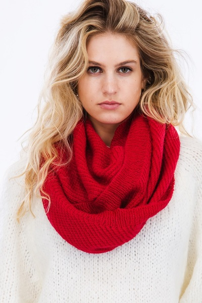 Warm Cozy Knit Infinity Scarf