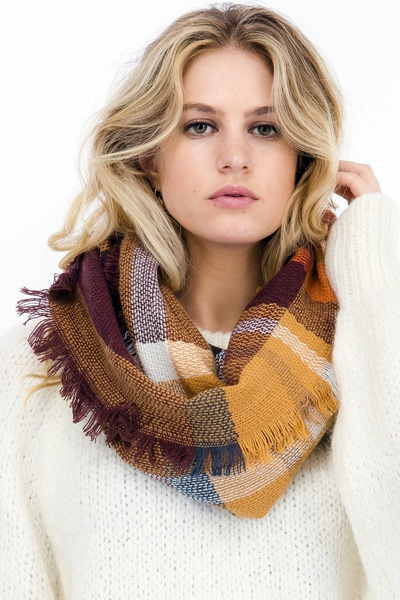 PATCH PRINT INFINITY SCARF