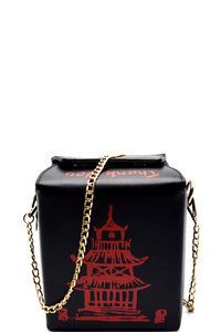 Unquie Chinease Food To-Go Box Figure Cross Body