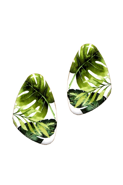 Tropical Print Post Earring