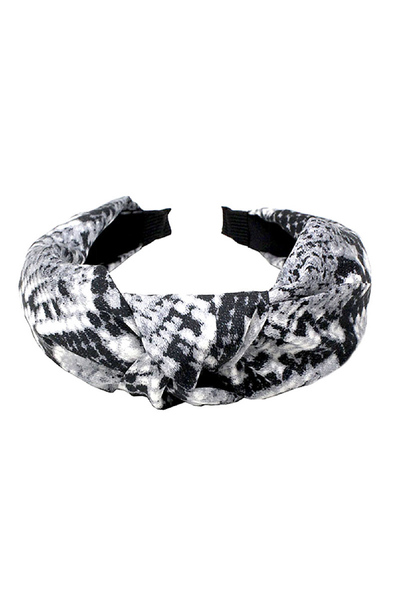 Vintage Snake Print Soft Fabric Knotted Headband