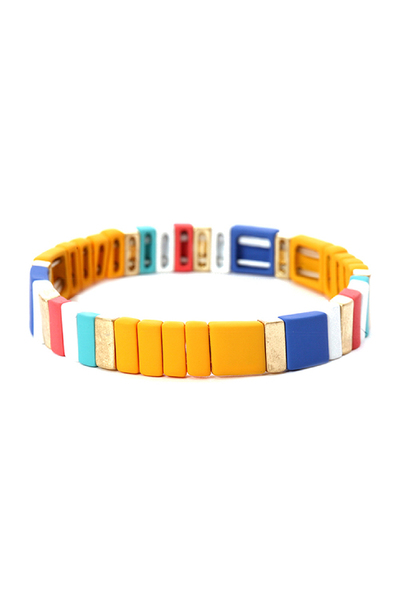 Color-coated Lego Block Slim Elastic Bracelet