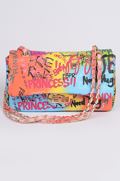Graffiti Gradiating Clutch