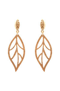 Metal Leaf Open-cut Post Earring
