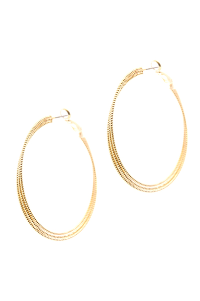 Metal Geometric Layered Hoop Earring