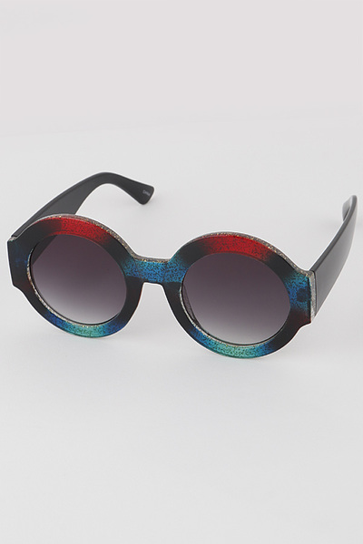 Unique Print Round Sunglasses