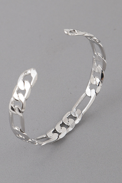 Shiny Melted Chain Cuff Bracelet