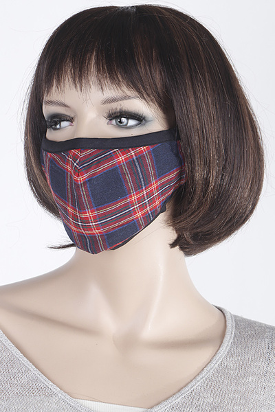 Plaid Pattern Face Mask