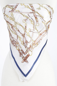 Multi Belts Print Scarf