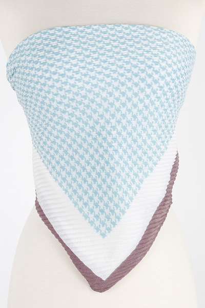 Houndstooth Print Scarf