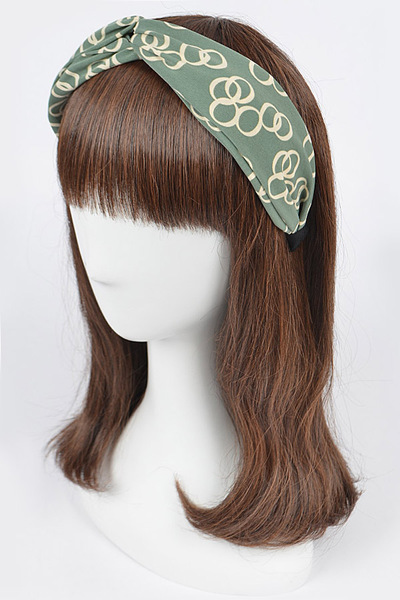 Printted Knotted Headband