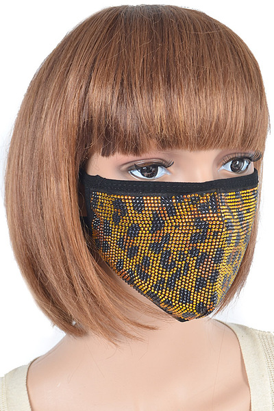 Leo Pattern Stone Fashion Mask