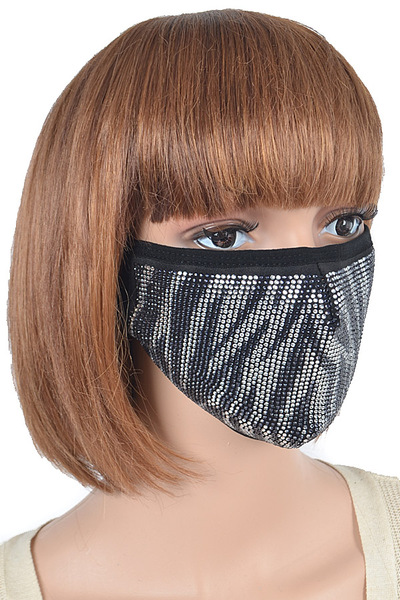 Zebra Pattern Stone Fashion Mask