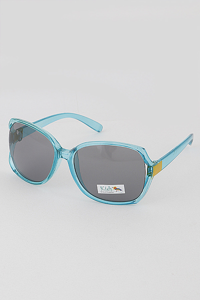 Kids Translucent Frame Sunglasses