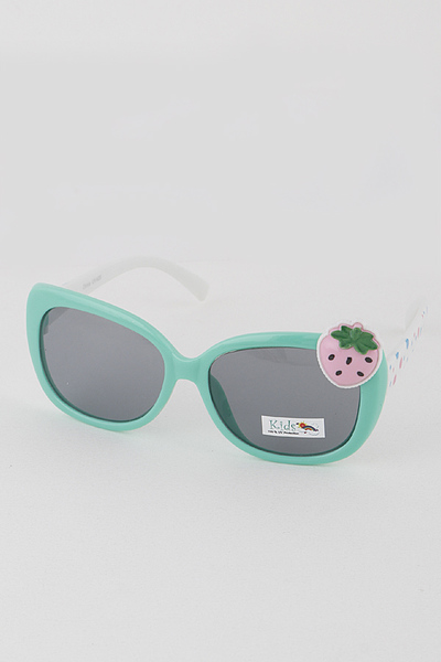 Kids Strawberry Round Sunglasses