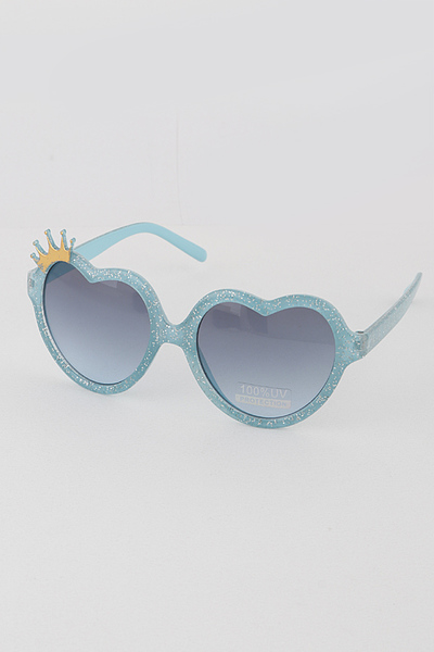 Kids Heart Crown Sunglasses