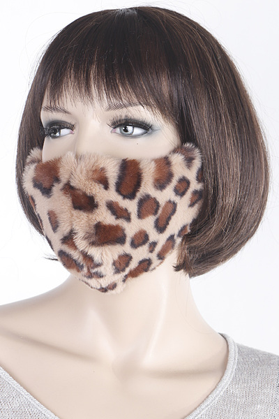 Faux Fur Face Mask
