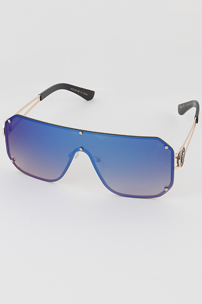 Hidden Frame Shield Sunglasses