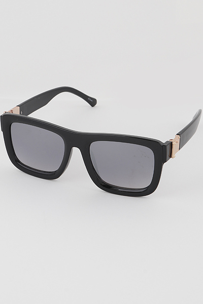 Bulky Frame Rectangular Sunglasses