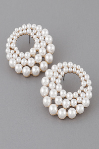 Unique Pearl Stud Earrings