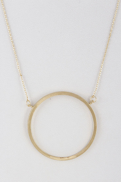 Circle Ring Statement Necklace
