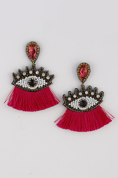 Eyes That See Tassel Earrings