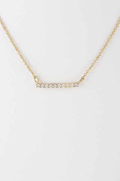 Rhinestone Bar Line Cute Necklace