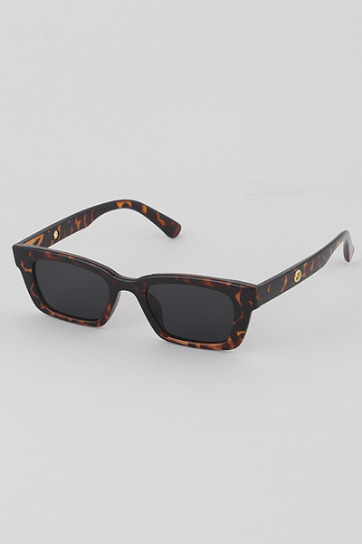 Rectangular Sunglasses With Chain