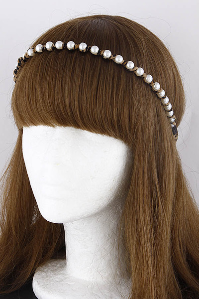Tie Back Pearl Head Band