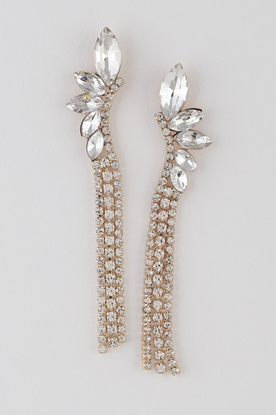 Finest Bulk Rhinestone Drop Earrings