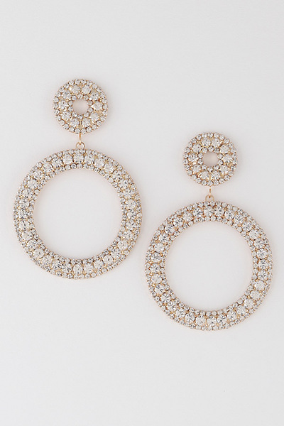 Open Cut Circle Drop Earrings