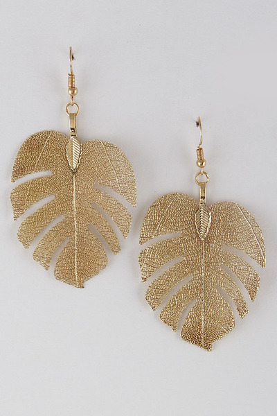 Falling Leaf Drop Earrings