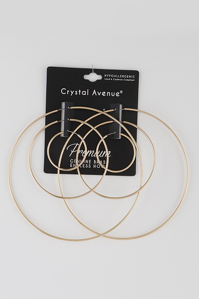 Simple Hoop Earrings Set