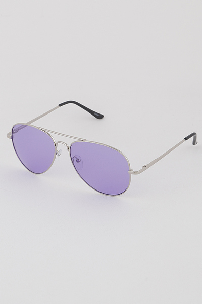 Pop Colored Lens Aviator Sunglasses