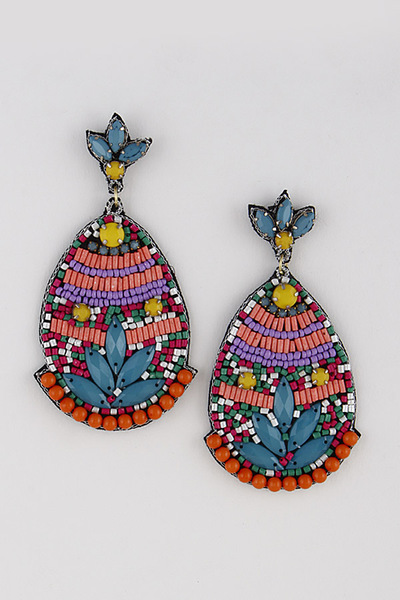 Antique Beaded Drop Earrings