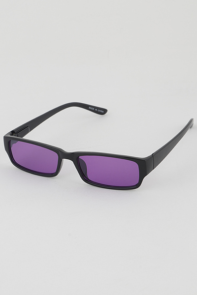 Monotone Lens Rectangle Sunglasses